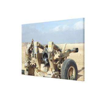 US Marines prepare to fire a howitzer 2 Canvas Print