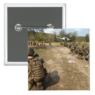 US Marines provide security as a UH-1N 15 Cm Square Badge