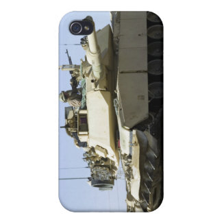 US Marines provide security in a battle tank iPhone 4 Covers