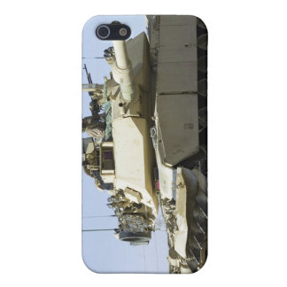 US Marines provide security in a battle tank iPhone 5/5S Covers