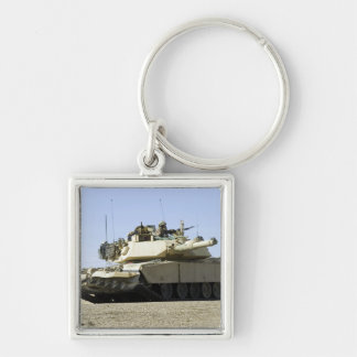 US Marines provide security in a battle tank Key Ring