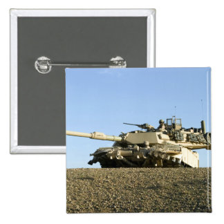 US Marines provide security in an M1A1 Abrams t 15 Cm Square Badge