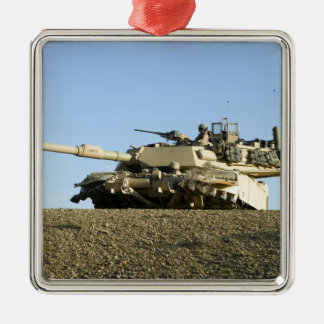 US Marines provide security in an M1A1 Abrams t Christmas Ornament