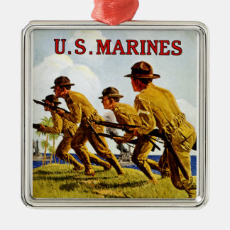 US Marines ~ Soldiers of the Sea Silver-Colored Square Decoration
