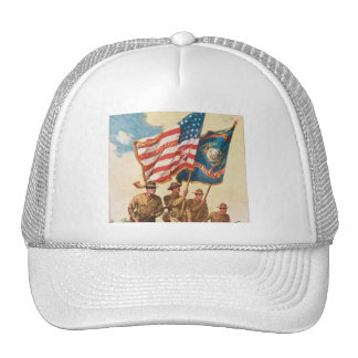 US Marines WW 1 Vintage Poster Cap