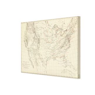 US Mean Temperature Canvas Print