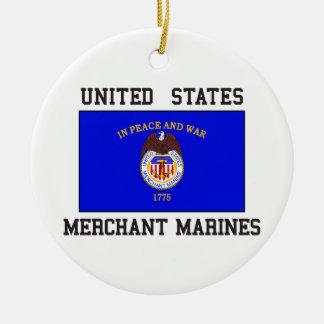 US Merchant Marine Round Ceramic Decoration