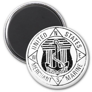 US Merchant Marines by: David Lee 6 Cm Round Magnet