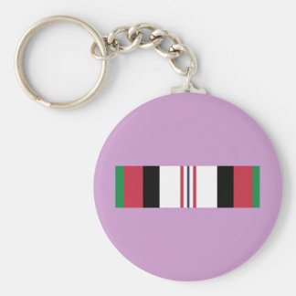 US Military Afghanistan Campaign Ribbon Basic Round Button Key Ring