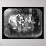 US Military Commission Crimea Daguerreotype 1855 Poster
