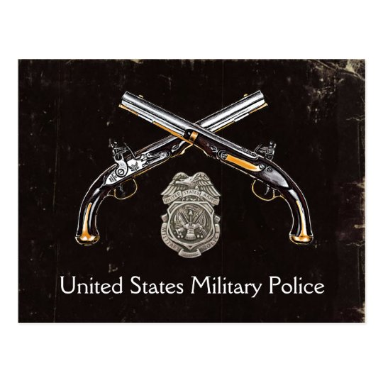 US Military Police postcard