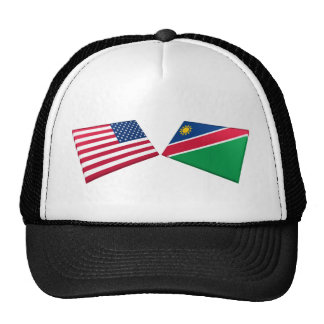 US & Namibia Flags Trucker Hats