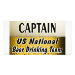 US National Beer Drinking Team Photo Cards