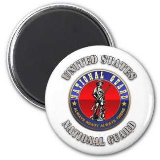 US National Guard 6 Cm Round Magnet