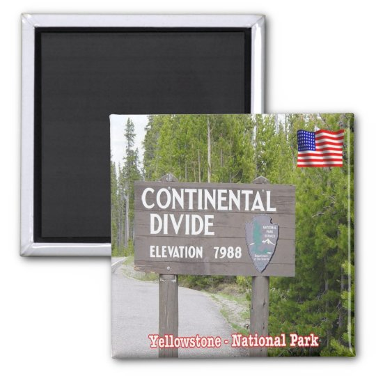 US National Park Yellowstone - Continental Divide Magnet
