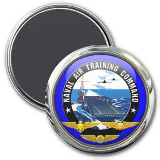 US Naval Air Training Command 7.5 Cm Round Magnet