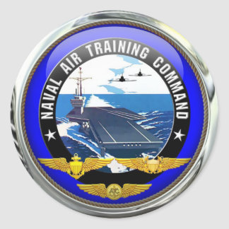 US Naval Air Training Command (pack of 6/20) Round Sticker