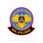 US NAVAL INTELLIGENCE Military Patch Postcard