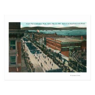 US Navy Atlantic Fleet in Harbor Postcard