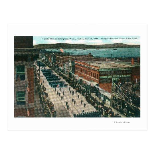 US Navy Atlantic Fleet in Harbour Postcard