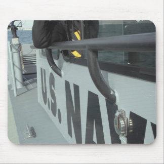 US Navy Boatswain's Mate looks through binocula Mouse Pad