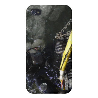 US Navy Diver gets ready to start his dive iPhone 4/4S Covers