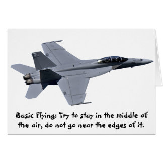 US Navy F-18 Super Hornet Card