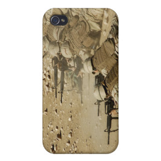 US Navy Seabees fire M-4 and M-16A2 rifles iPhone 4 Case