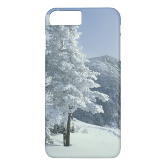 US, NH, Snow covered trees Trails Snoeshoe iPhone 8 Plus/7 Plus Case