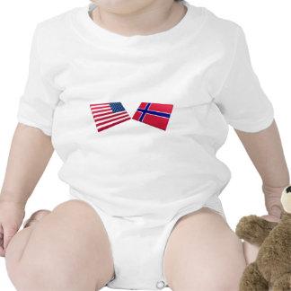 US & Norway Flags Bodysuit