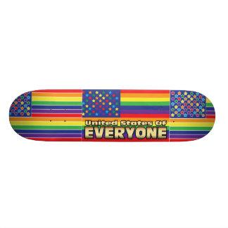 US of E Rainbow Skateboard