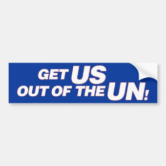 US out of UN Bumper Sticker