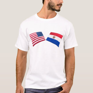 US & Paraguay Flags T-Shirt