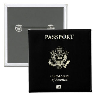 US Passport Cover 15 Cm Square Badge