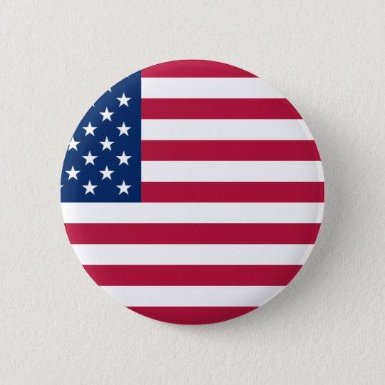 US Patriotism 6 Cm Round Badge