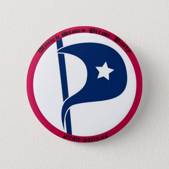 US Pirate Party 6 Cm Round Badge
