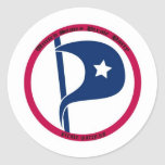 US Pirate Party Classic Round Sticker