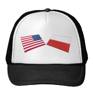 US & Poland Flags Hats