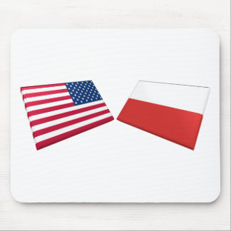 US Poland Flags Mouse Pad