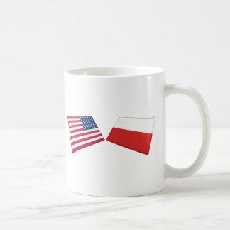 US & Poland Flags Coffee Mug