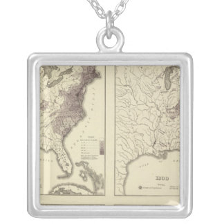 US Population 1790-1820 Silver Plated Necklace
