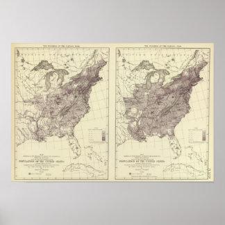 US Population 1830-1840 Poster