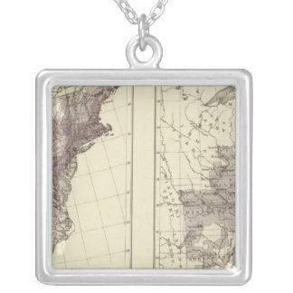 US Population 1830-1840 Silver Plated Necklace