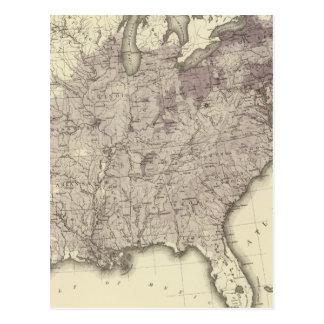 US Population 1850 Postcard