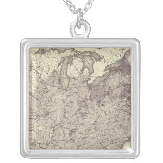 US Population 1850 Silver Plated Necklace