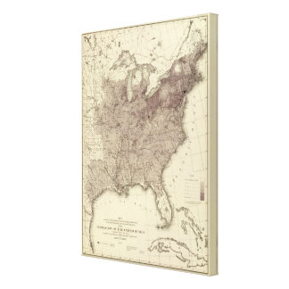 US Population 1860 Canvas Print