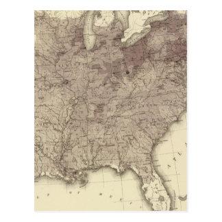 US Population 1860 Postcard