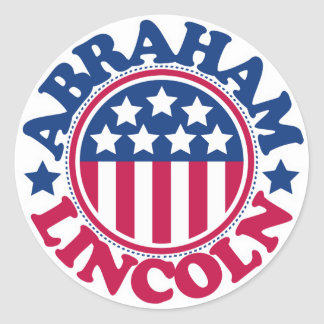 US President Abraham Lincoln Classic Round Sticker