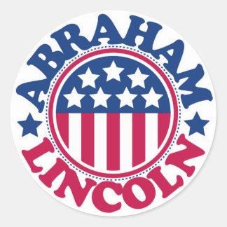 US President Abraham Lincoln Round Sticker