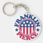 US President Franklin Pierce Basic Round Button Key Ring